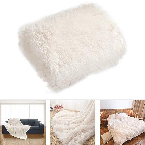 Tapis d/'un épais mouton Shaggy Unicolore Uni Fausse Fourrure Super Doux Gris