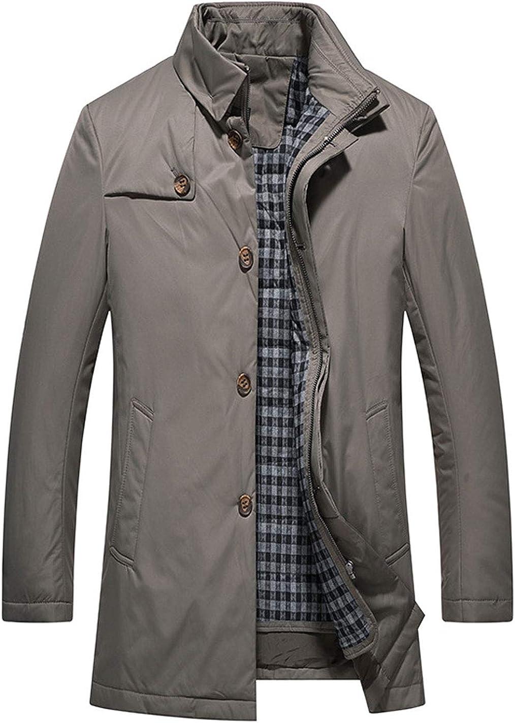 ebossy Men's Winter Thicken Jacket with Zip Down Vest