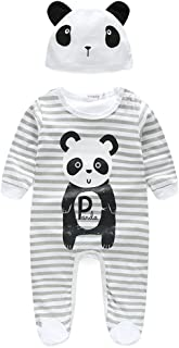 Baby Boys Girls Cotton Organic Pajamas, Unisex Baby Sleep & Play Jumpsuit Set