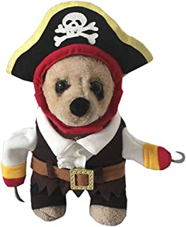 yolsun Caribbean Pirate Pet Costume for Little Dogs & Cats