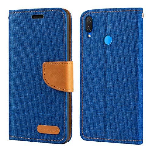 Capa para Huawei Nova 3i, capa carteira de couro Oxford com capa traseira magnética de TPU macio para Huawei Nova 3i