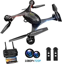 $129 » HSCOPTER 1080P Camera Drone,WiFi FPV Drone with Camera for Adults Kids, RC Toy Quadcopter with Altitude Hold,One Key Take Off/Landing,Lost-Control Protection,Ideal Present Gift for Chrismas Birthday