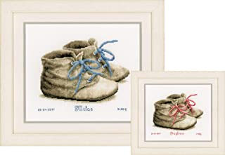 Vervaco Baby Shoes On Aida (14 Counted Cross Stitch Kit 7.25