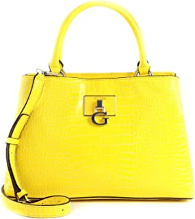 Guess Carabel Triple Compartment Satchel Yellow