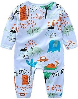 ??Aijoo??6-24ヶ月+赤ちゃん+円襟+キャラクター+プリント+長袖+連体衣+ハット