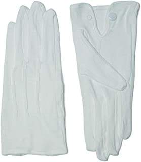 メンズ ハイブレス 滑り止め 綿 フォーマル 白 手袋 S M L コットン グローブ 1双 3双 セット から 選択 タクシー バス 運転手方 運転士 教習所教官 技術士