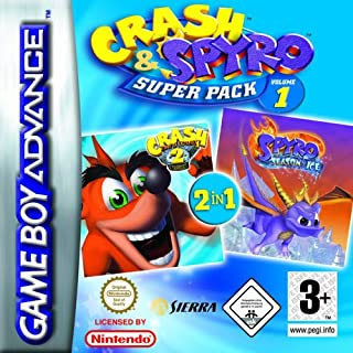 Crash and Spyro Super Pack Volume 1: Crash N-Tranced/Spyro: Season of Ice (GBA) by Sierra UK