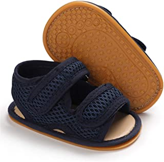 Sponsored Ad - BENHERO Baby Boys Girls Summer Sandals Soft Sole Canvas Closed Toe Toddler Infant Outdoor Walking Shoes