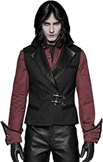 Punk Rave Men's Steampunk Gentleman Vintage PU Leather Vest Waistcoat