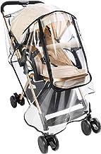 Zooawa Stroller Rain Cover, Universal Size Baby Travel Weather Shield Food Grade Material EVA Plastic Waterproof Windproof...