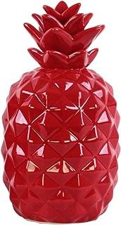 Urban Trends Ceramic Pineapple Figurine SM Gloss Finish Red, Small