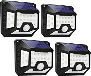 LE Solar Lights, Motion Sensor Outdoor Light, 270° Wide Angle, Four-Sided Lighting, Waterproof, Easy to Install, Wireless ...