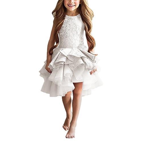 4807d9a4749 PLwedding Lovely Vintage Lace Applique Short Dream Flower Girls Dresses