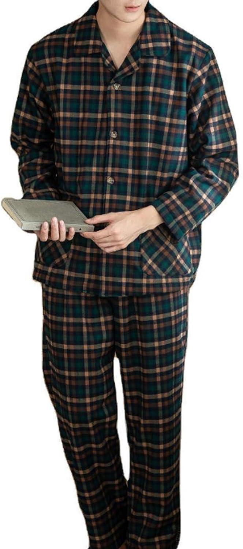 Men'S Pajama Set Long Sleeve Sleepwear For Men Green Xl