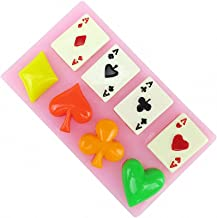 Poker Silicone Mold - MoldFun Playing Cards Hearts Diamonds Spades Clubs Mould for Chocolate, Fondant, Cake Cupcake Topper Decorating, Soap, Gum Paste, Polymer Clay, Candy, Resin