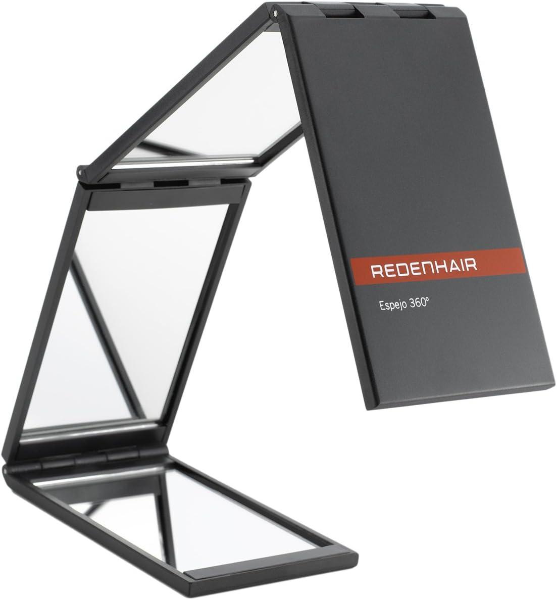 REDENHAIR- Espejo 360º - Espejo Plegable - Espejo para ver toda la cabeza - Espejo de viaje - Medidas: 7x48cm