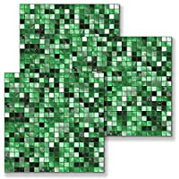 壁紙 リメイク シート シール,3D壁紙10枚、壁紙、ステッカー、レンガ、DIY遮音板、ハガシ、防音、断熱、防水タイル壁貼りシール-SJ059_15 * 15cm * 10ピース