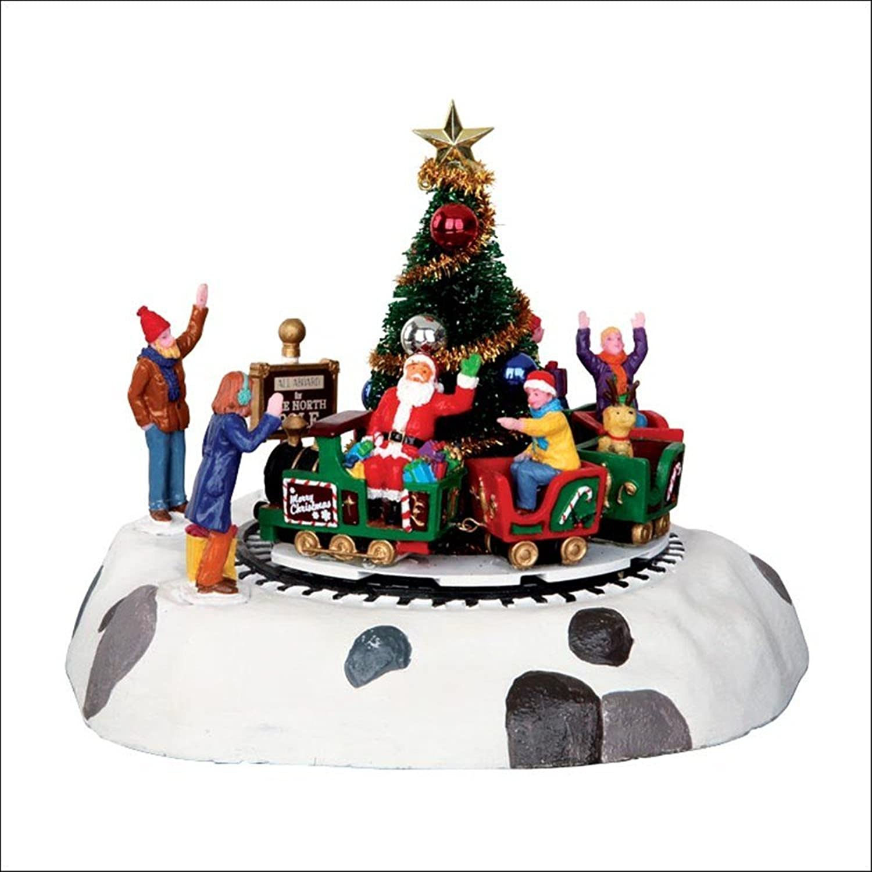 LEMAX at The Neighborhood Corner Store LEMAX CHRISTMAS VILLAGE SANTA'S KIDDIE TRAIN