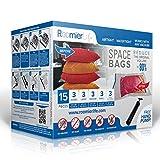 RoomierLife Premium Space Saver Bags 15pcs Variety Pack (3 x Small, Medium,...