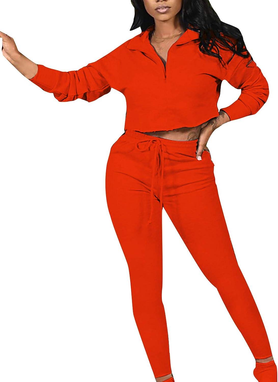 Women Two Piece Outfits Sets Women Sexy Long Sleeve V Neck Pajamas Sleepwear Loungewear Sport Suit Pjs Set