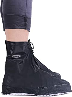 ARUNNERS Reusable Rain Shoe Covers Waterproof Overshoes Non Slip Foldable Galoshes
