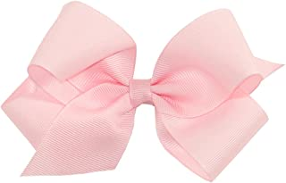 Wee Ones Baby Girls' Medium Grosgrain Hair Bow on a WeeStay Clip w/Plain Wrap