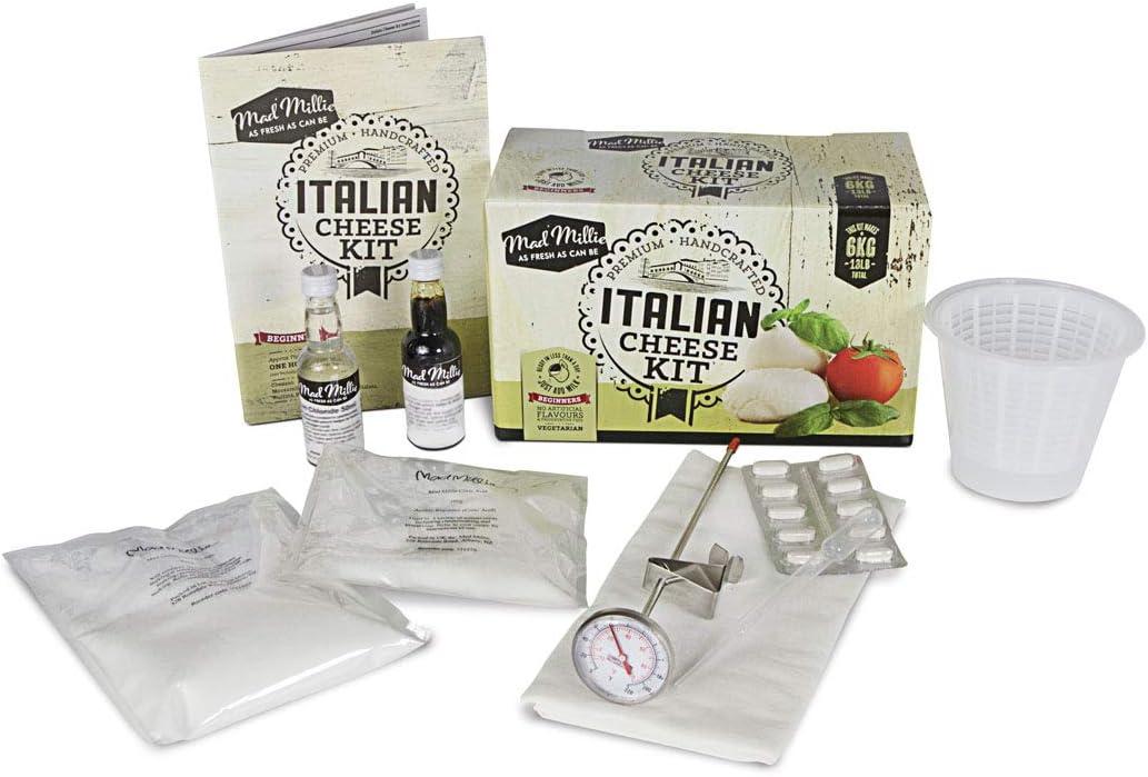 Mad Millie - Kit «Crea tu propio queso italiano». Sólo agrega leche.