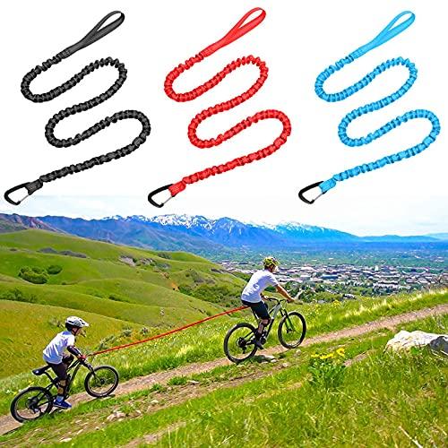 Abschleppseil Fahrrad KinderTraktionsseil 3 M Eltern Zugseil Fahrrad Abschleppseil Kinder Gedehnt Nylon+Elastisches Abschleppseil,Bis 500 lb/225 kg, Abschleppseil Mit Sicherheitshaken (A)