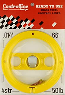 Line Kit for Control Line Planes (Yellow, 0.014x2x66')