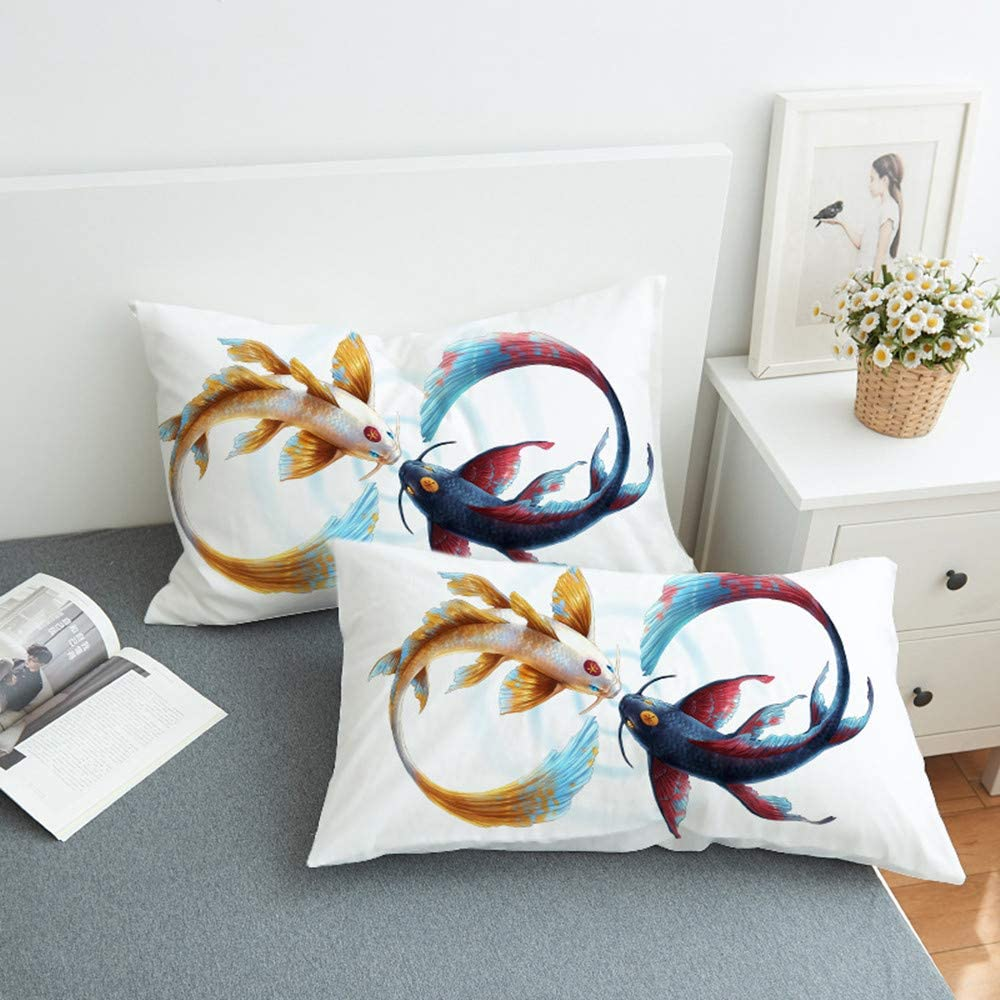 Futtle Kiss Fish Bed We OFFer at cheap prices Pillowcases Soft 70% OFF Outlet 3D Print Decoration Throw
