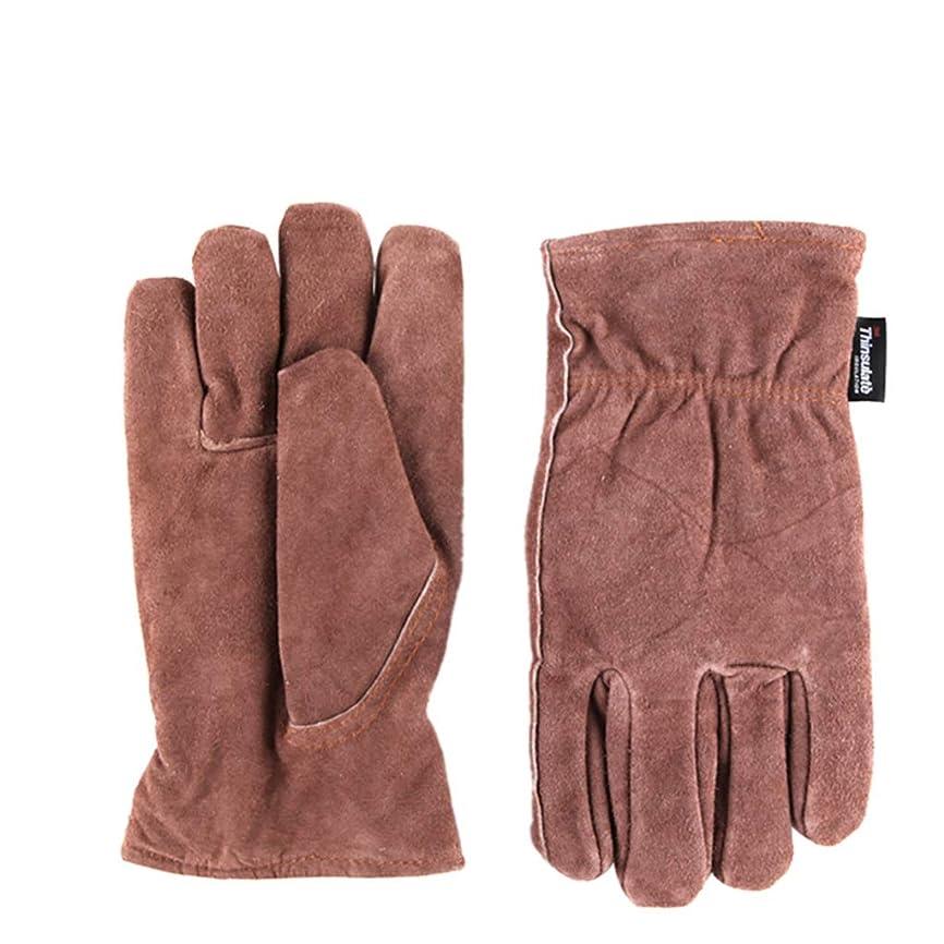 部分的に十分ではない彫刻家IUYWL手袋 手袋暖かいとビロードの高温革溶接防カット手袋26センチ×25センチ IUYWL手袋