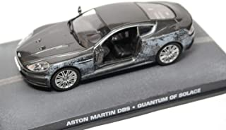 Aston Martin DBS 6.0L V12 (Damaged Version) 'Quantum of Solace (2008)' Dark Grey Metallic 2008 Year - Grand Tourer - 1/43 Scale Collectible Model Vehicle - The James Bond Car Collection #110