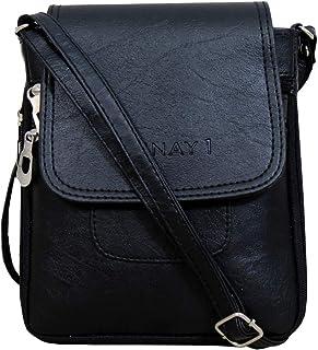 YUNAY1 Girls' & Women's Fashion Sling Bag : Black