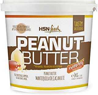 comprar comparacion Mantequilla de Cacahuete de HSN | Textura Crujiente - Peanut Butter Crunchy - 100% Natural | Apto Vegetariano, Sin grasa d...