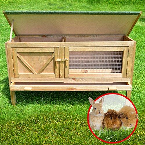 """ZooPrimus Kleintier-Stall Nr 24 Kaninchen-Käfig """"HASI"""" Meerschweinchen-Haus für Außenbereich (Geeignet für Kleintiere: Hasen, Kaninchen, Meerschweinchen usw.) - 5"""