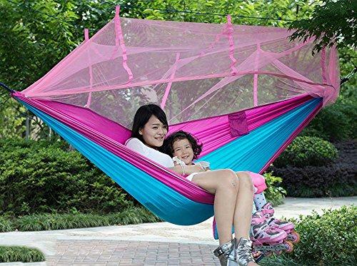 QAZSE moustiquaire hamac Parachute Tissu Camping Swing,Style-Size,260cm*140cm-f