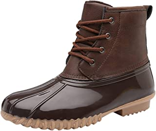 Fheaven Women's Boots Velvet Lined Rain Footwear Garden Outdoor Shoes Large Size Lightweight Waterproof Work Shoes