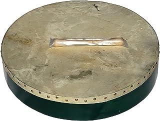 DEURA GREEN BODHRAN DRUM ایرلندی سلتیک CASE 18 اینچ رایگان و 2 دامپینگ