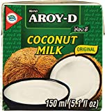 Aroy-D 100% Coconut Milk 5.1 Fluid Ounce (150ml), Pack of 6