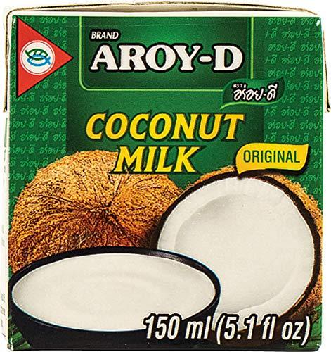 AROY-D Kokosmilch (Fettgehalt ca. 19% - Ideal zum Kochen, Backen, für Desserts und Cocktails) 6er Vorteilspack à 150ml