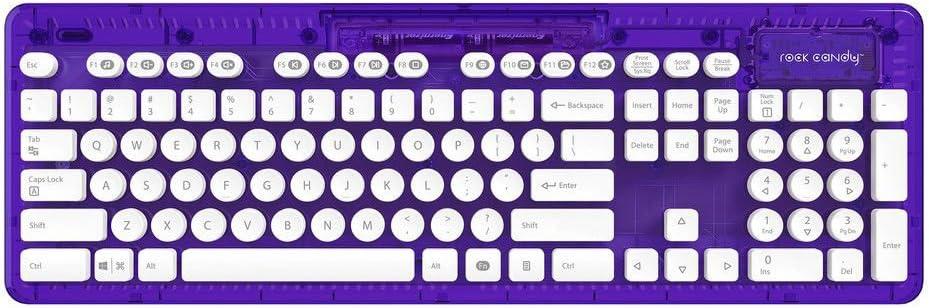 PDP - Teclado Rock Candy Wireless, Color Morado (PC/Mac)