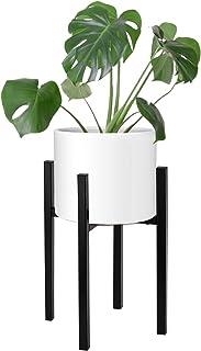 Magicfly Soporte de Plantas Expandible, Soporte de Macetero de Metal Ajustable 25,4-36,8 cm de Ancho, Soporte de Macetas para Interior Decorativo, Negro