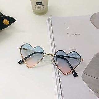 N/A - Moda en Forma de corazón Gafas de Sol para niños Lentes de gradiente sin Montura Gafas de Sol para niños Niño niña Corazón Lindo Gafas de Metal Sombras para bebé Regalo de cumpleaños