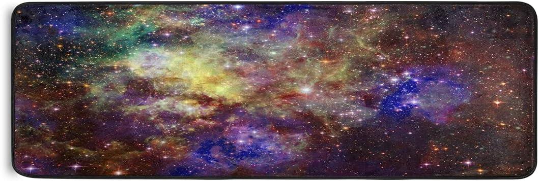 Kitchen Mat Rugs Long Beach Mall Fantasy Colorful Universe Mats Galaxy Max 72% OFF
