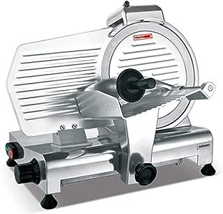 NEWTRY ミートスライサー 肉切り機 冷凍肉スライス 電動 大型 卓上型 業務用 0-10mm切削厚さ 飲食店/食堂/肉屋/キッチン用 鍋用の羊肉/牛肉 110V