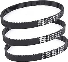 3pcs x Transfer Belts for Pulse Charger Electric Scooter Revolution City Skull HTD 384-3M-12 Belt