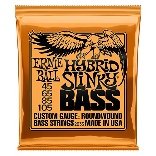 Cordes pour basse électrique Ernie Ball Hybrid Slinky Nickel Wauge - Calibre 45-105