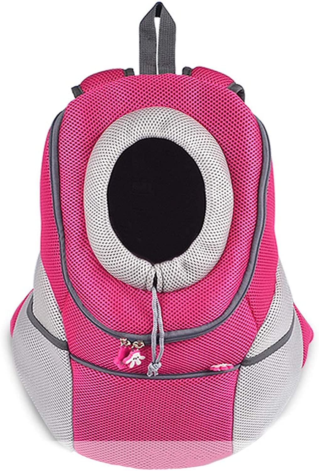 Backpacks Dog Backpack Outing Cat Backpack Portable Pet Travel Bag Outdoor Chest Backpack Fashion Breathable Pet Nest Foldable Household Pet Bag Bearing 3 5 8KG (color   Pink, Size   M)