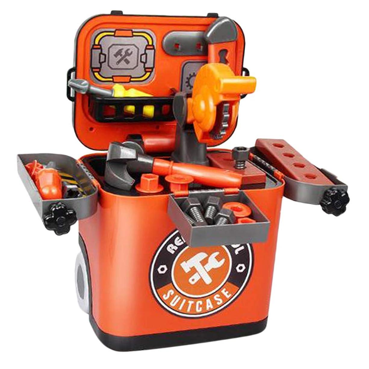 有力者エチケット面積Sharplace おままごと 大工さん 子供おもちゃ 収納ボックス付き ロールプレイ 建設ツール ふりプレイセット