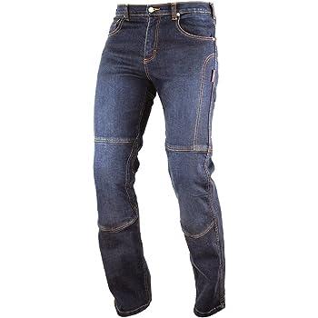 Jeans Pantaloni Moto Protezioni Omologate Inserti Kevlar Rinforzati Blu 28